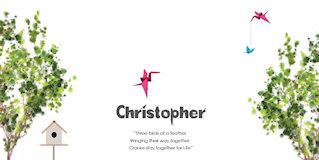 geboortekaartje christopher