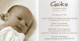 geboortekaartje geike