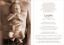geboortekaartje lyam