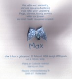 geboortekaartje max