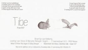 geboortekaartje tibe