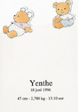 geboortekaartje yenthe